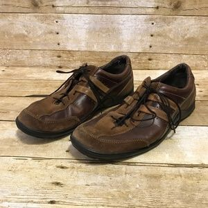 Cole Haan Mens 9 Brown Leather Vibram Sole Sneaker